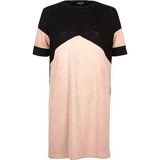 Light pink colour block tunic