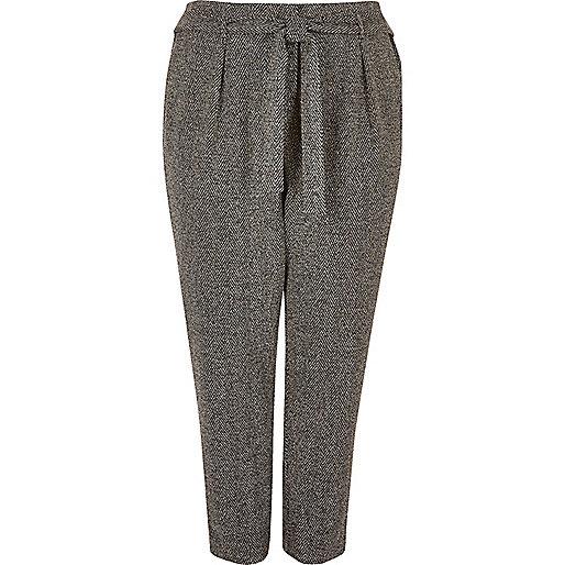 Pantalon RI Plus gris foncé fuselé doux à cordon