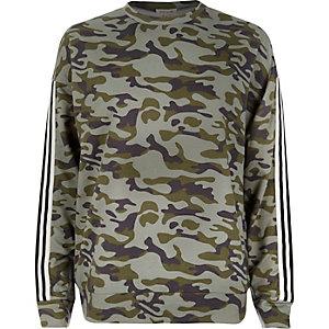 Khaki camo stripe sweatshirt