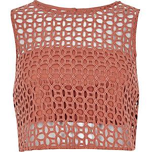 Pink cornelli crop top