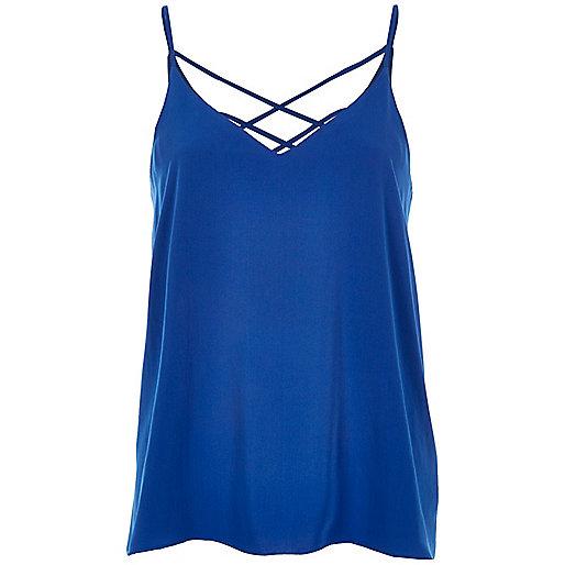Blue strappy cami