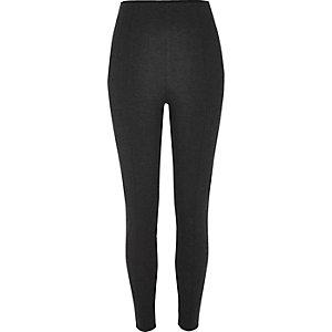 Dark grey ponti high rise leggings