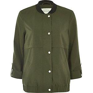 Khaki lightweight bomber jacket