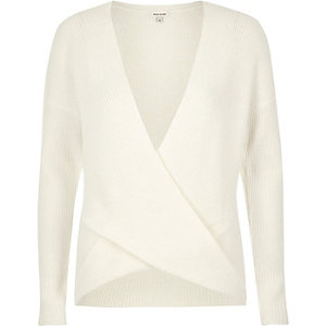 Cream wrap jumper