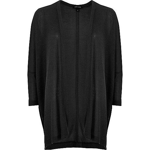 Black oversized cardigan