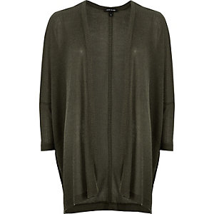 Dark green oversized knitted cardigan