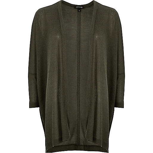 Dark green oversized knit cardigan