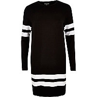 Black stripe sports dress
