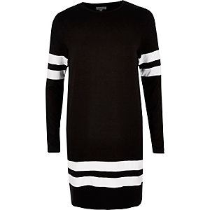 Black stripe sports dress