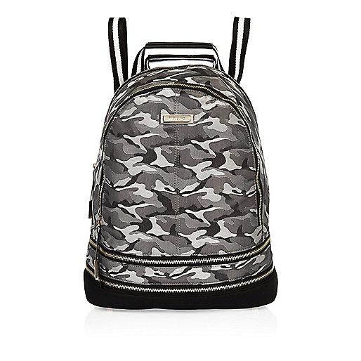 Grey camo stripe backpack