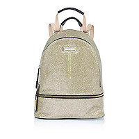 Gold glitter backpack