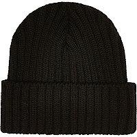 Black knit beanie
