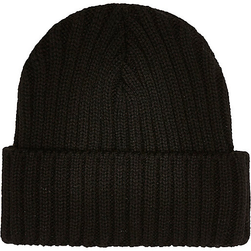 Bonnet en maille noir