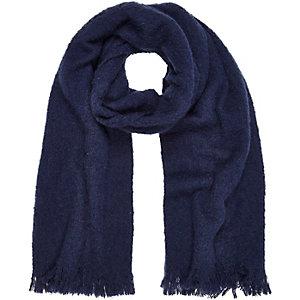 Navy super soft scarf