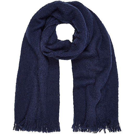 Navy super soft scarf