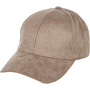 Mink faux suede cap