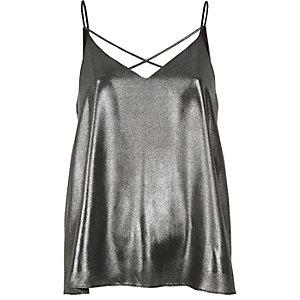 Silver strappy cami