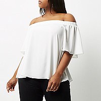 RI Plus cream bardot top