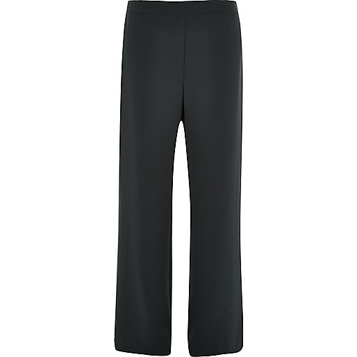 Black soft straight leg pants