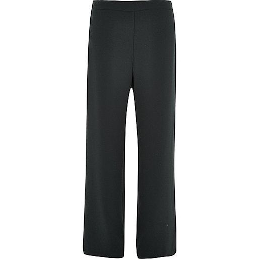 Pantalon noir doux coupe droite
