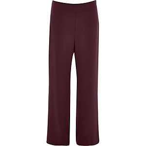 Dark red soft straight leg pants