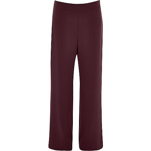 Dark red soft straight leg trousers