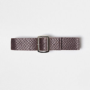 Purple textured buckle choker