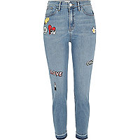 Light blue Lori high rise badge skinny jeans
