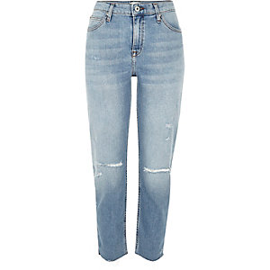 Light blue wash ripped Ashley boyfriend jeans