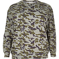 RI Plus green camo sweatshirt