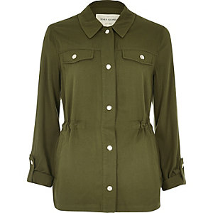 Khaki lightweight cotton jacket