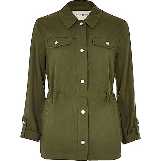 Khaki lightweight cotton jacket