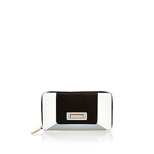 White sporty colour block purse