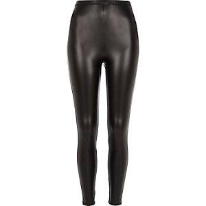 Legging enduit noir