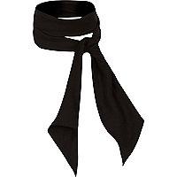 Black necktie scarf