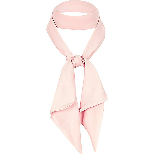 Light pink neck tie scarf