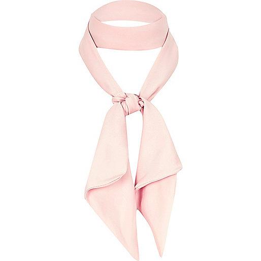 Foulard rose clair