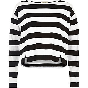 Black stripe grazer top