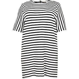 Plus white stripe tunic