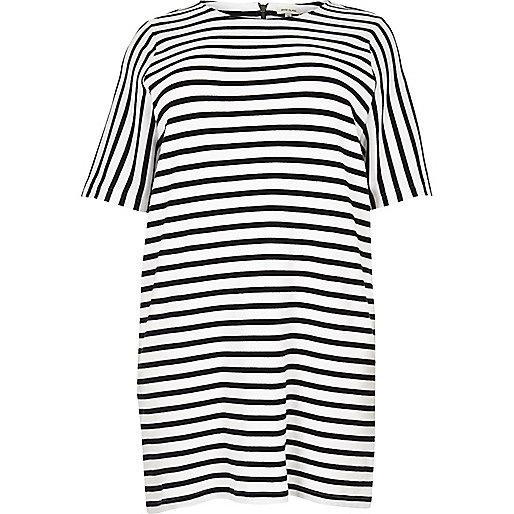 RI Plus white stripe tunic