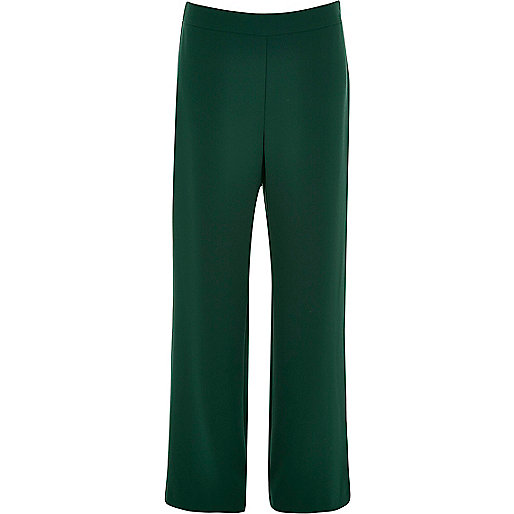 Dark green high rise pants
