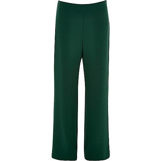 Pantalon vert foncé à taille haute