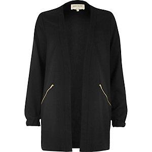 Black lightweight woven jacket