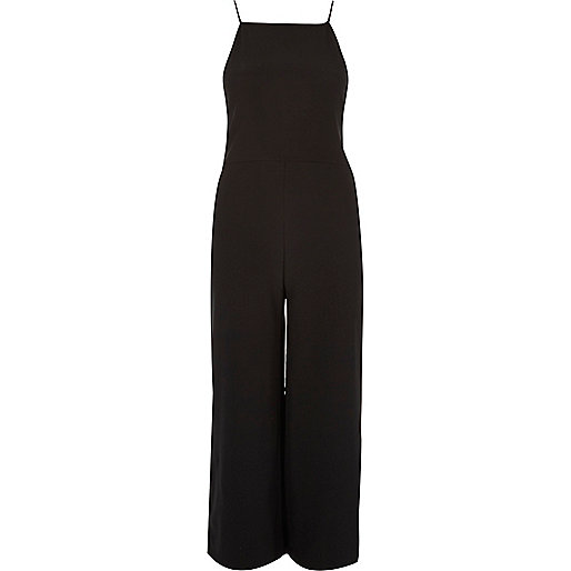 Black cami culotte jumpsuit