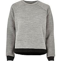 Grey trimmed side split jumper