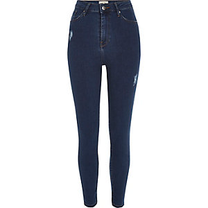 Dark wash Lori high rise skinny jeans