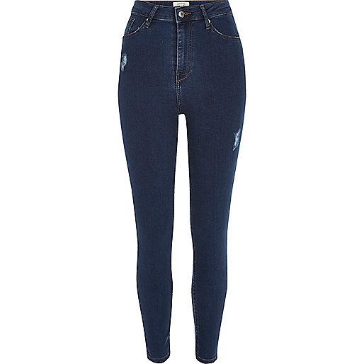 Dark wash Harper high rise skinny jeans