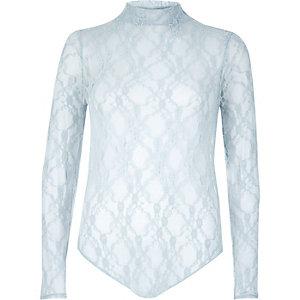 Light blue lace bodysuit