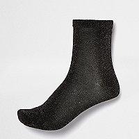 Purple lurex ankle socks