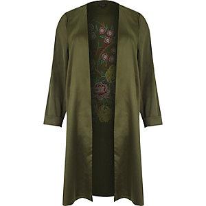 RI Plus – Verzierter Mantel in Khaki